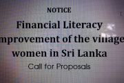 Financial Literacy improvement of the village women in Sri Lanka